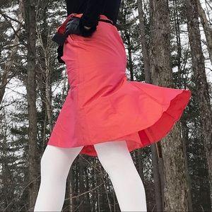 Vintage Armani Pink/Orange Silk Flare Hem Skirt